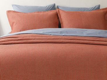 Dante Pamuklu Çift Kişilik Yatak Örtüsü Takımı 230x240 Cm Kiremit