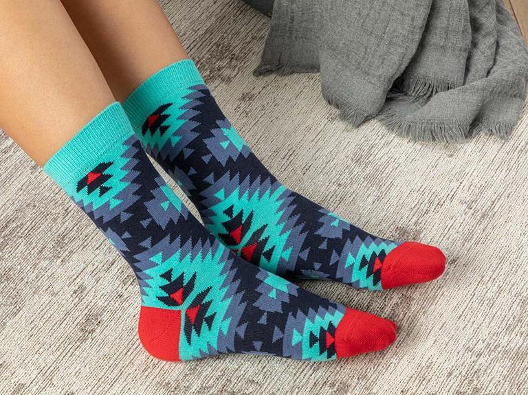 Rug Pamuk Kadın Çorap Turkuaz