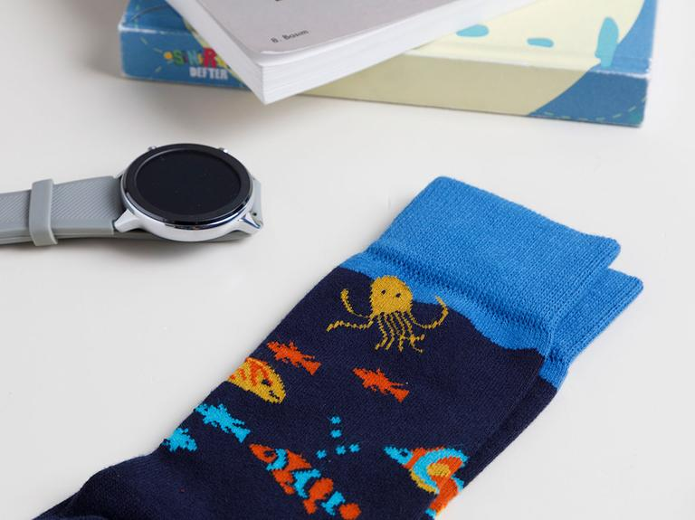 Fish Pamuk Erkek Çorap Standart Lacivert