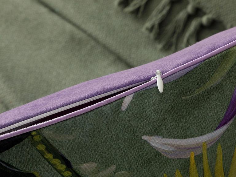 Leaf Petek Kırlent 45x45 Cm Yeşil
