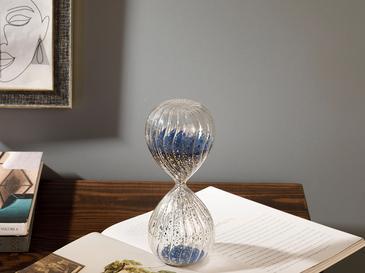 Luster Cam Kum Saati 8,2 X 8,2 X 20 Cm Gümüş