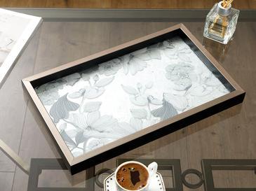 Monochrome Cam Dekoratif Tepsi 22x37 Cm Siyah