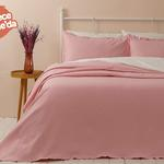 Blake Pamuklu Çift Kişilik Yatak Örtüsü Takımı 230x240 Cm Pembe