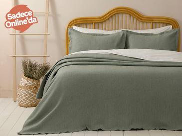 Fiona Pamuklu Çift Kişilik Yatak Örtüsü Takımı 230x240 Cm Çağla Yeşili
