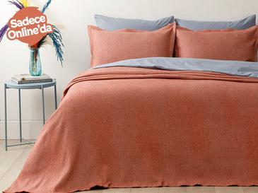 Fiona Pamuklu Çift Kişilik Yatak Örtüsü Takımı 230x240 Cm Kiremit