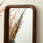 Stripe Ahşap Ayna 24x30 Cm Kahverengi