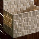Checked Polipropilen Saklama Kutusu 24x12,5x31 Cm Beyaz - Bej