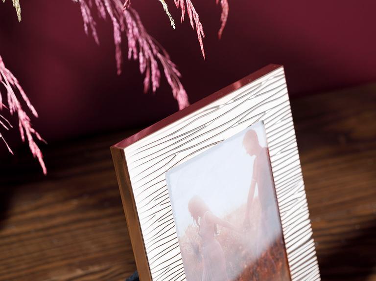 Glam Stripe Metal Çerçeve 14,1x19,0 Cm Bakır