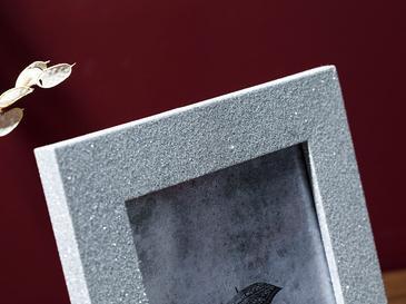 Glitter Mdf Çerçeve 17x22,5x2 Cm Gümüş