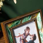 Paradise Flowers Cam Çerçeve 13x18 Cm Altın