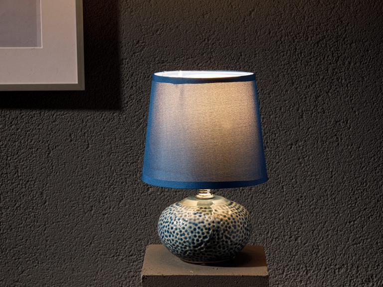 Odes Porselen Abajur 14x14x22,5 Cm Lacivert