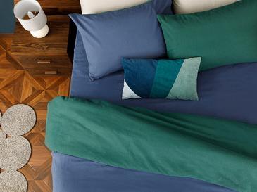 Plain Flanel Tek Kişilik Nevresim Takımı 160x220 Cm Yeşil-mavi