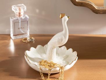 Peafowl Seramik Takılık 12x12x9,5 Cm Beyaz