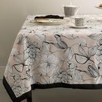 Denby Dark Polyester Dikdörtgen Masa Örtüsü 150x200 Cm Bej - Siyah