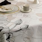 Denby Elegant Polyester Dikdörtgen Masa Örtüsü 150x200 Cm Bej - Siyah