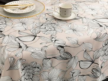 Denby Dark Polyester Kare Masa Örtüsü 100x100 Cm Bej - Siyah