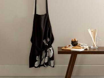 Denby Dark Polyester Ayarlanabilir Mutfak Önlüğü 65x75 Cm Siyah - Beyaz