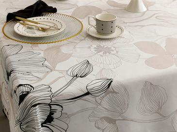 Denby Elegant Polyester Kare Masa Örtüsü 100x100 Cm Bej - Siyah