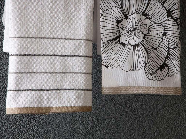 Denby Pamuk 2'li Kurulama Bezi 40x60 Cm Beyaz - Bej
