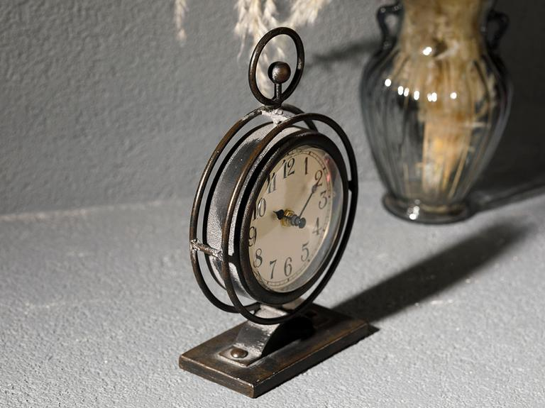 Ruth Metal Masa Saati 14.5x6.5x23.5cm Siyah