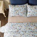 Art Floral Pamuk King Size Nevresim Takımı 240x220 Cm Mavi