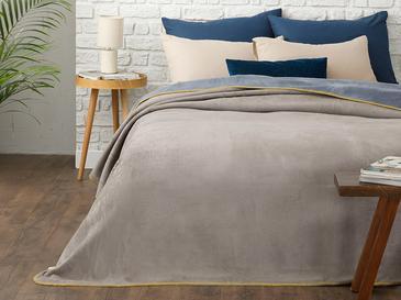 Softy Düz Tek Kişilik Battaniye 150x200 Cm Mavi - Gri