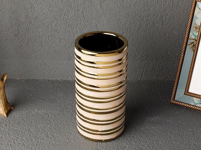 Noble Stoneware Vazo 11,5x11,5x22,5 Cm Gold