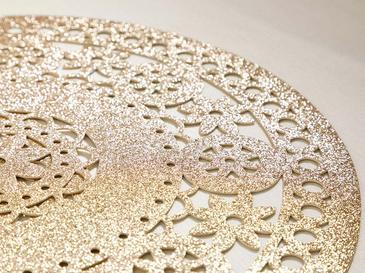 Shine Bright Pvc 2'li Mutfak Amerikan Servis  38 Cm Gold
