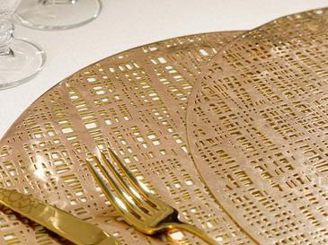 Juno Pvc 2'li Mutfak Amerikan Servis  38 Cm Gold