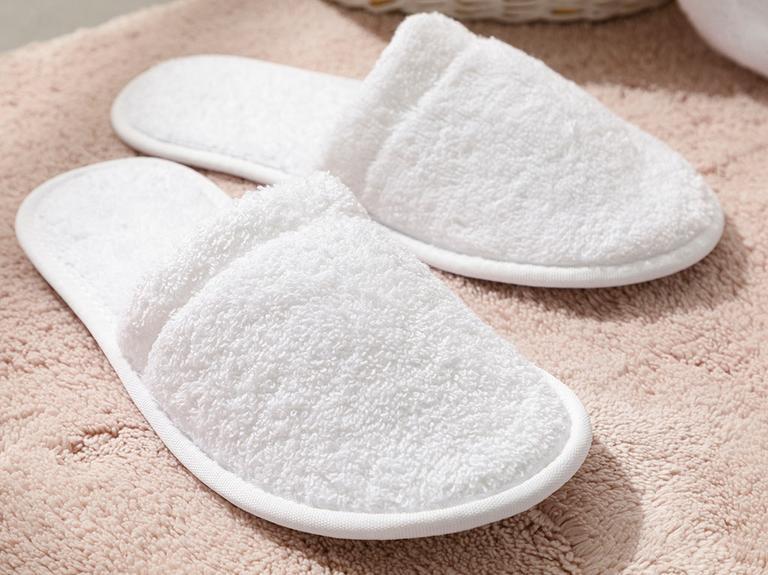 Simple Pamuklu Erkek Banyo Terliği 40-44 Beyaz