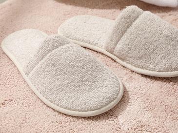 Simple Pamuklu Kadın Banyo Terliği 36-40 Açık Bej