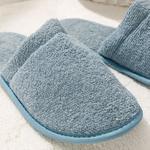 Simple Pamuklu Erkek Banyo Terliği 40-44 İndigo