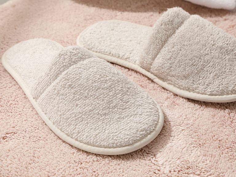 Simple Pamuklu Erkek Banyo Terliği 40-44 Açık Bej