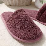 Simple Pamuklu Kadın Banyo Terliği 36-40 Gül Kurusu