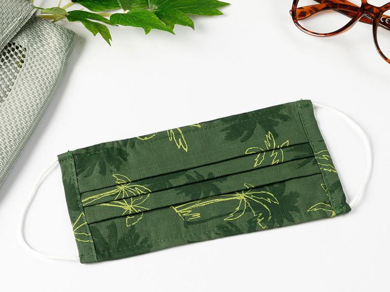 Palms Pamuk Maske 9,5x18 Cm Koyu Yeşil