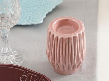 Snowland Stoneware Mumluk 7,4x7,4x10 Cm Pembe