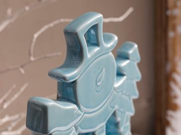 Snowland Stoneware Biblo 14,7x3,5x19,3 Cm Mavi