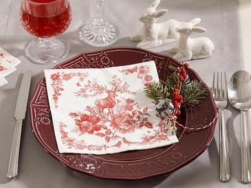 Candy Flowers Kağıt 22 Adet Kağıt Peçete 33x33 Cm Kırmızı