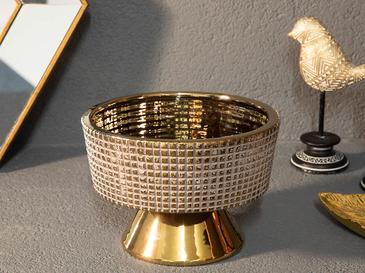 Ethel Stoneware Dekoratif Tabak 20x20x13,5 Cm Mor