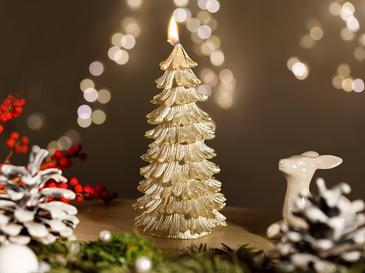 Christmas Season Parafin Mum 7x14 Cm Gold