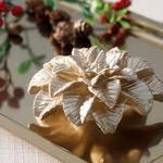 Magnolia Parafin Mum 11,5x11,5x5,0 Cm Gold
