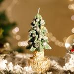 Christmas Tree Parafin Mum 6,0x6,0x15,5 Cm Yeşil