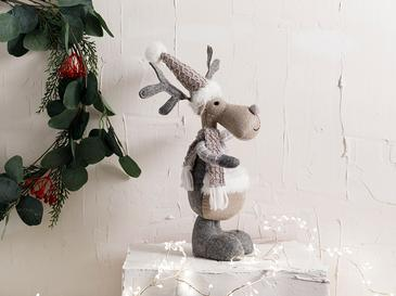 Lovely Deer Polyester Biblo 17*9*26cm Gri