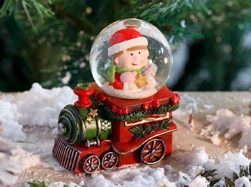 Train Polyresin Kar Küresi 16,5*5*8cm Kırmızı