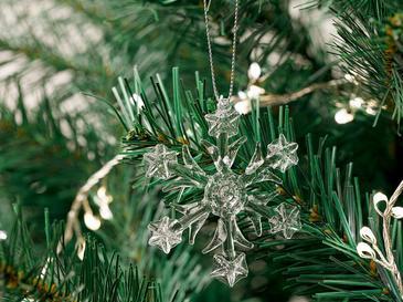 Snowflake Cam 3'lü Askılı Aksesuar 6,5 Cm Şeffaf