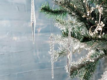 Winter Time Cam 3'lü Askılı Aksesuar 14 Cm Silver