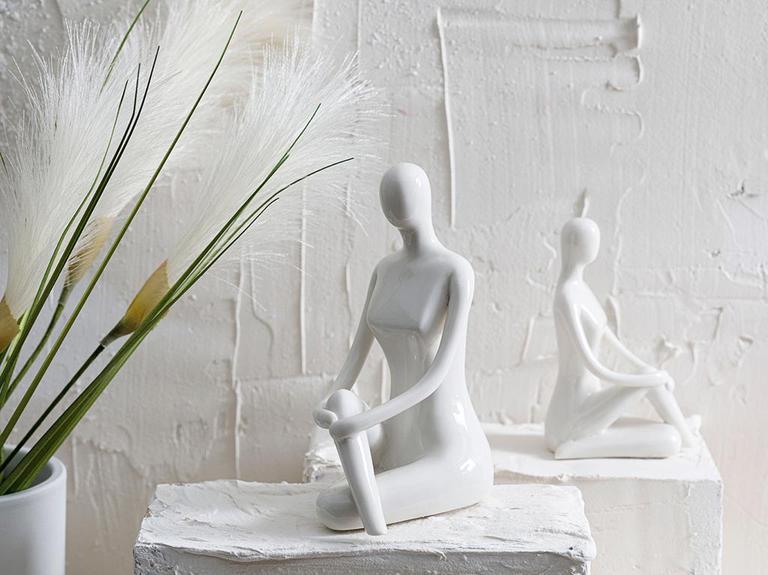 Lady Stoneware Biblo 6x7x12cm Beyaz