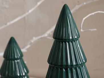 Pine Tree Stoneware Biblo 9x9x17 Cm Yeşil