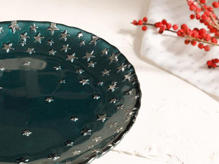 Mery Cam Kek Standı 18 Cm Yeşil