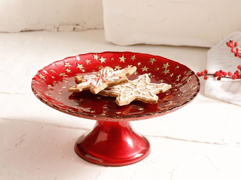 Mery Cam Kek Standı 18 Cm Kırmızı